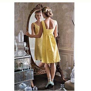 Anthro Rain in Spain Jacquard Chartreuse Dress